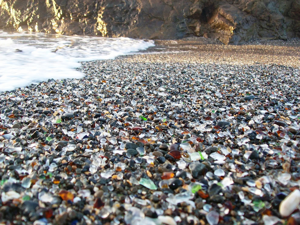 Close-up-view-of-the-colored-glass-beads-mixed-in-the-sand-at-Glass-Beach-near-Fort-Bragg-CA